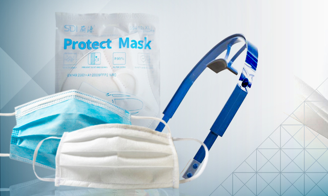 Masks and face shields available